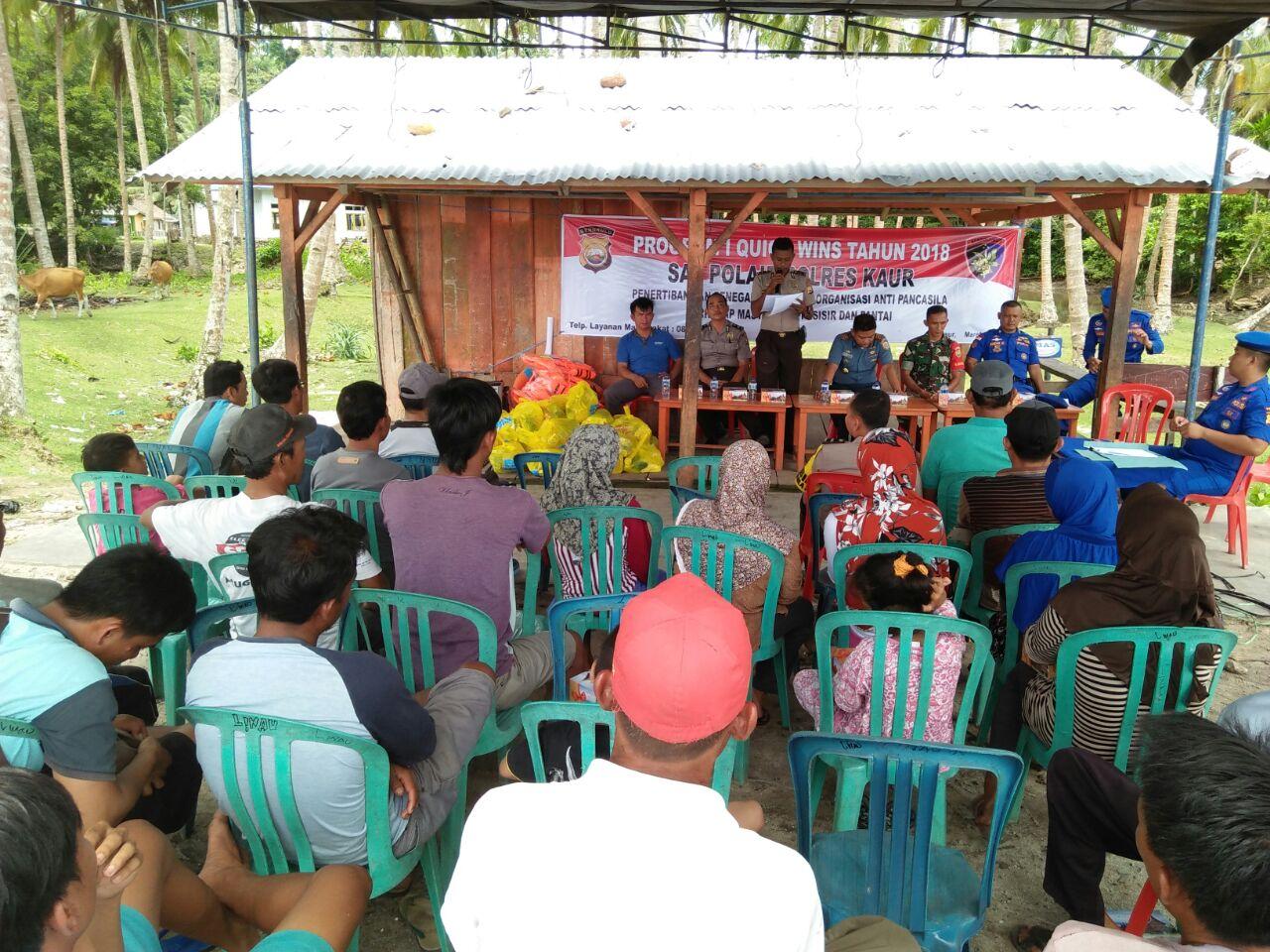 Tingkatkan Kemitraan, Satpolair Polres Kaur Kunjungi Desa Linau