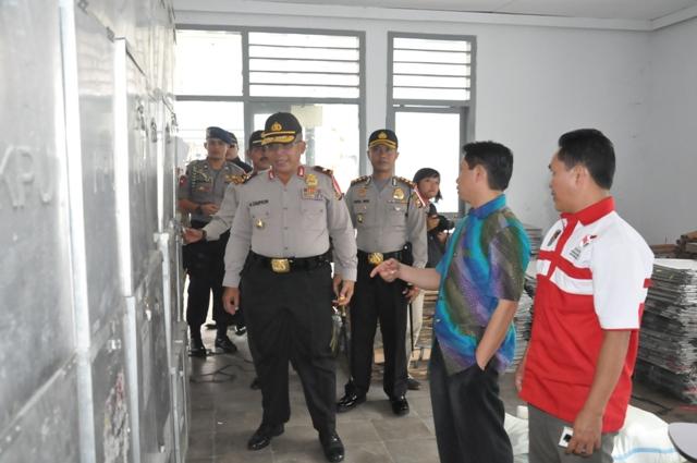 Kapolda Bengkulu dan Ketua KPU Propinsi Cek KPU Kabupaten