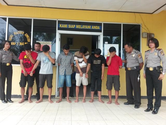 Polisi bekuk 6 Penganiaya Warga Lokalisasi