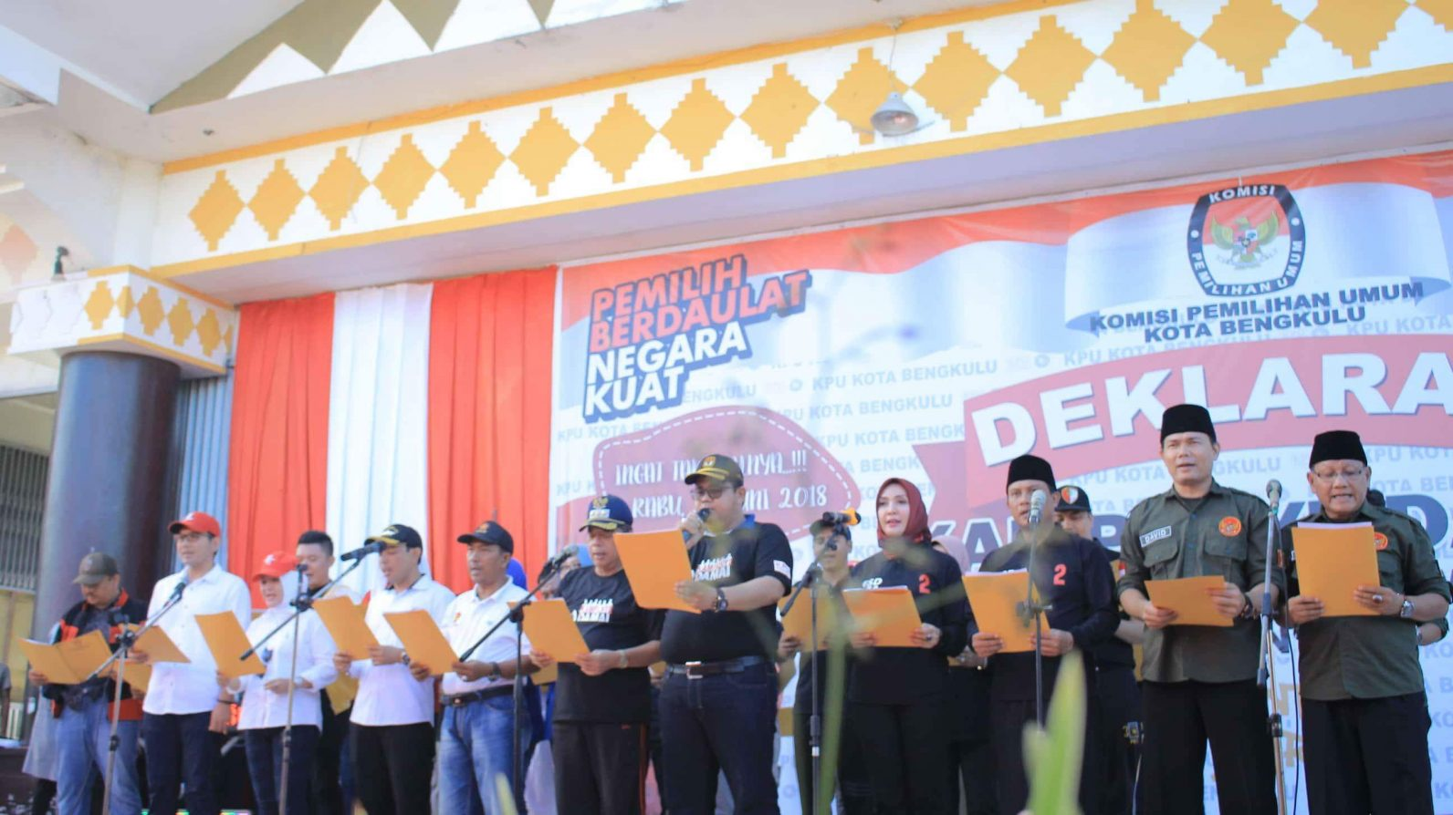Deklarasi Pilkada Damai, Anti Hoak dan Money Politik Kota Bengkulu