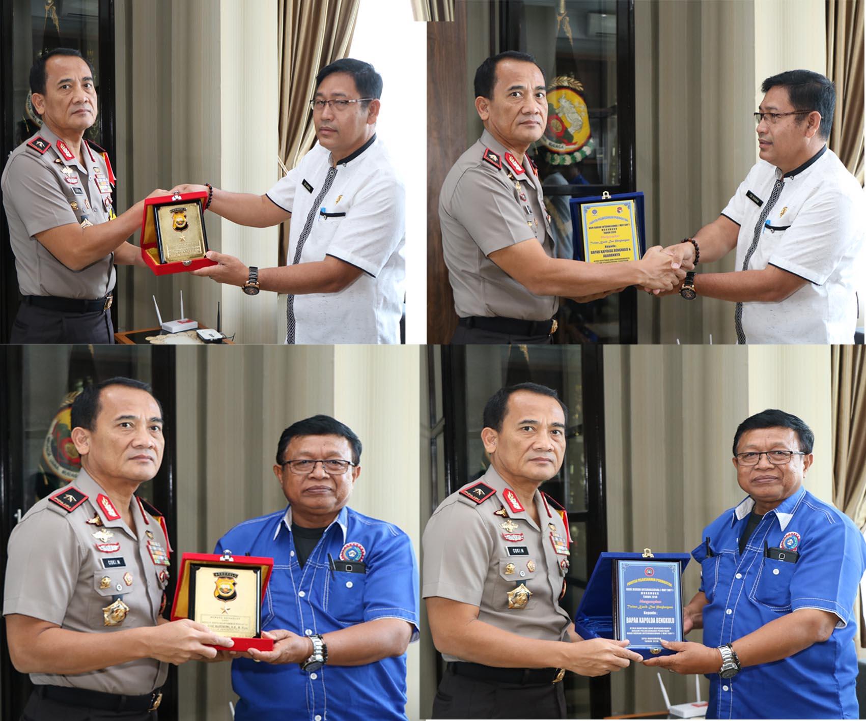 Pelaksanaan MayDay Aman dan Tertib, (DPMPPTK) dan (SPSI) Mukomuko Apresiasi Polda Bengkulu