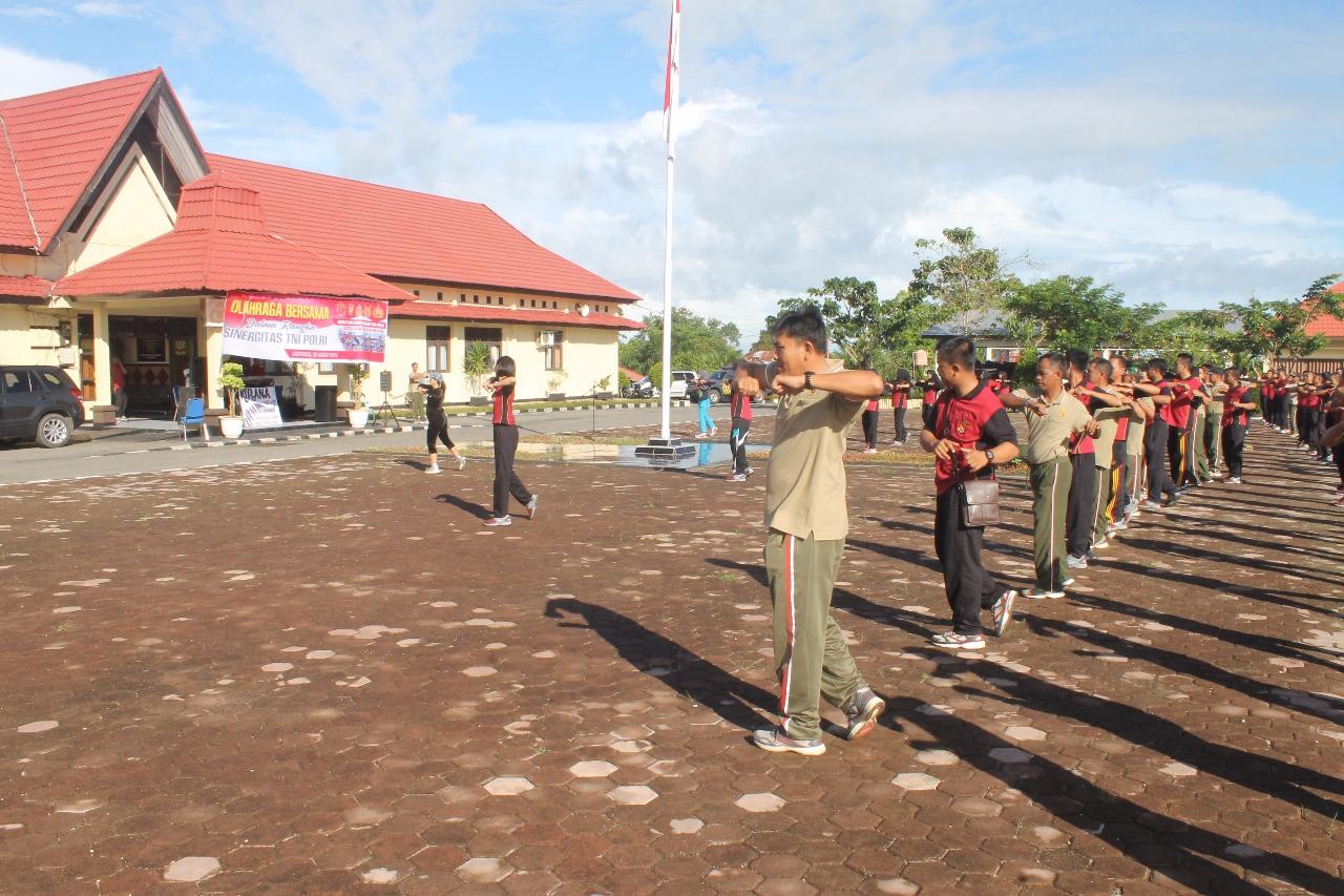 Sinergitas TNI/Polri, Polres Kaur Gelar Olahraga Bersama