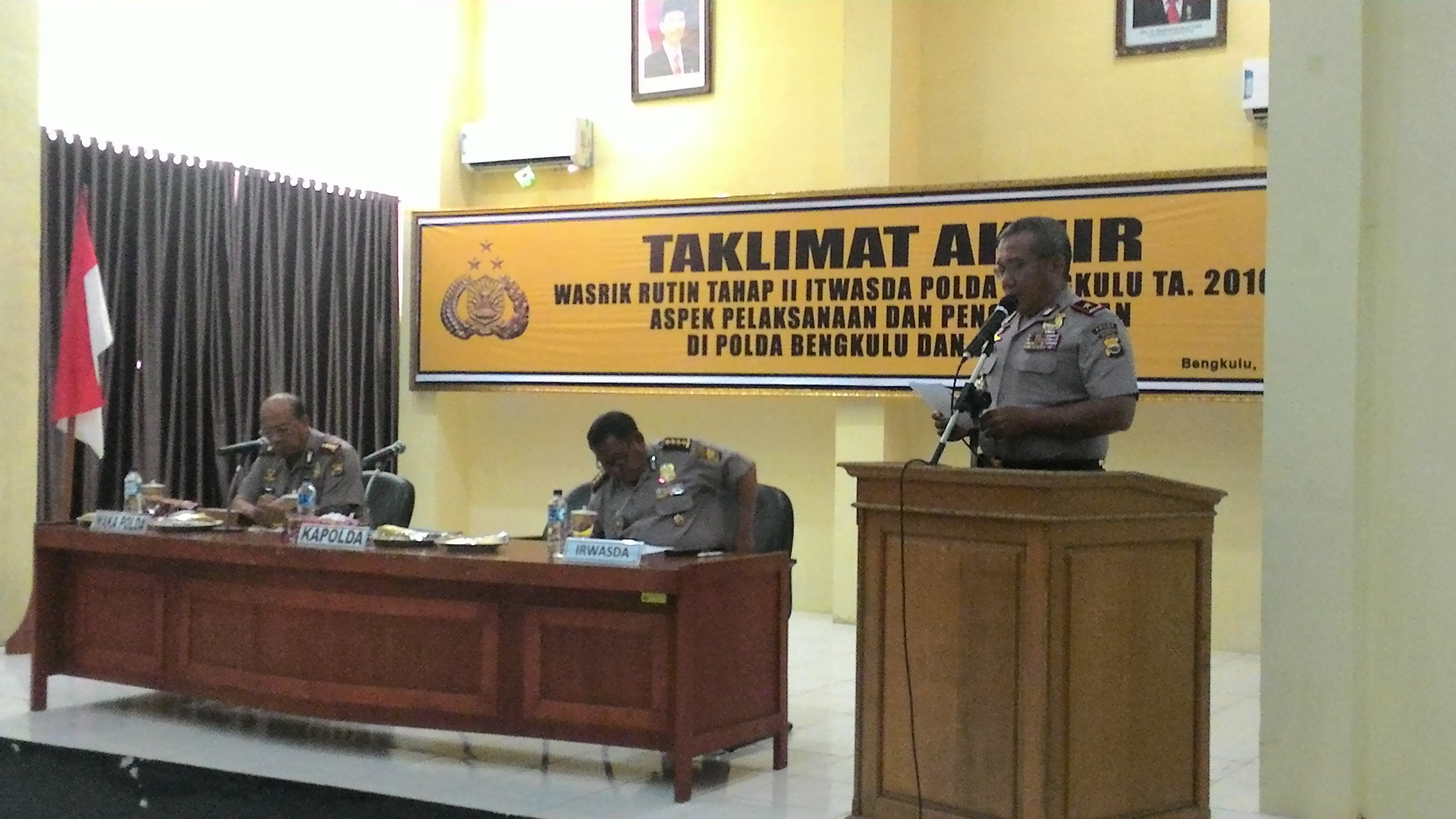 Penyampaian Hasil Wasrik Tahap II Polda Bengkulu