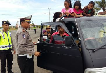 Polres Kaur Sosialisasi Larangan Penggunaan Kendaraan Bak Terbuka
