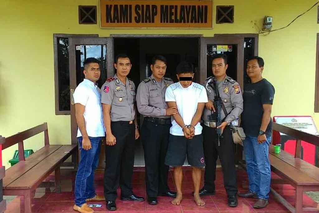 Polsek Kabawetan Tangkap 1 dari 3 Pelaku Spesialis Pencuri Kulit Manis
