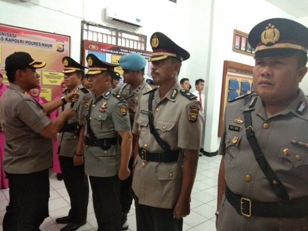 Antisipasi Rusuh Pilkada, Polres Kaur Gelar Latihan Dalmas