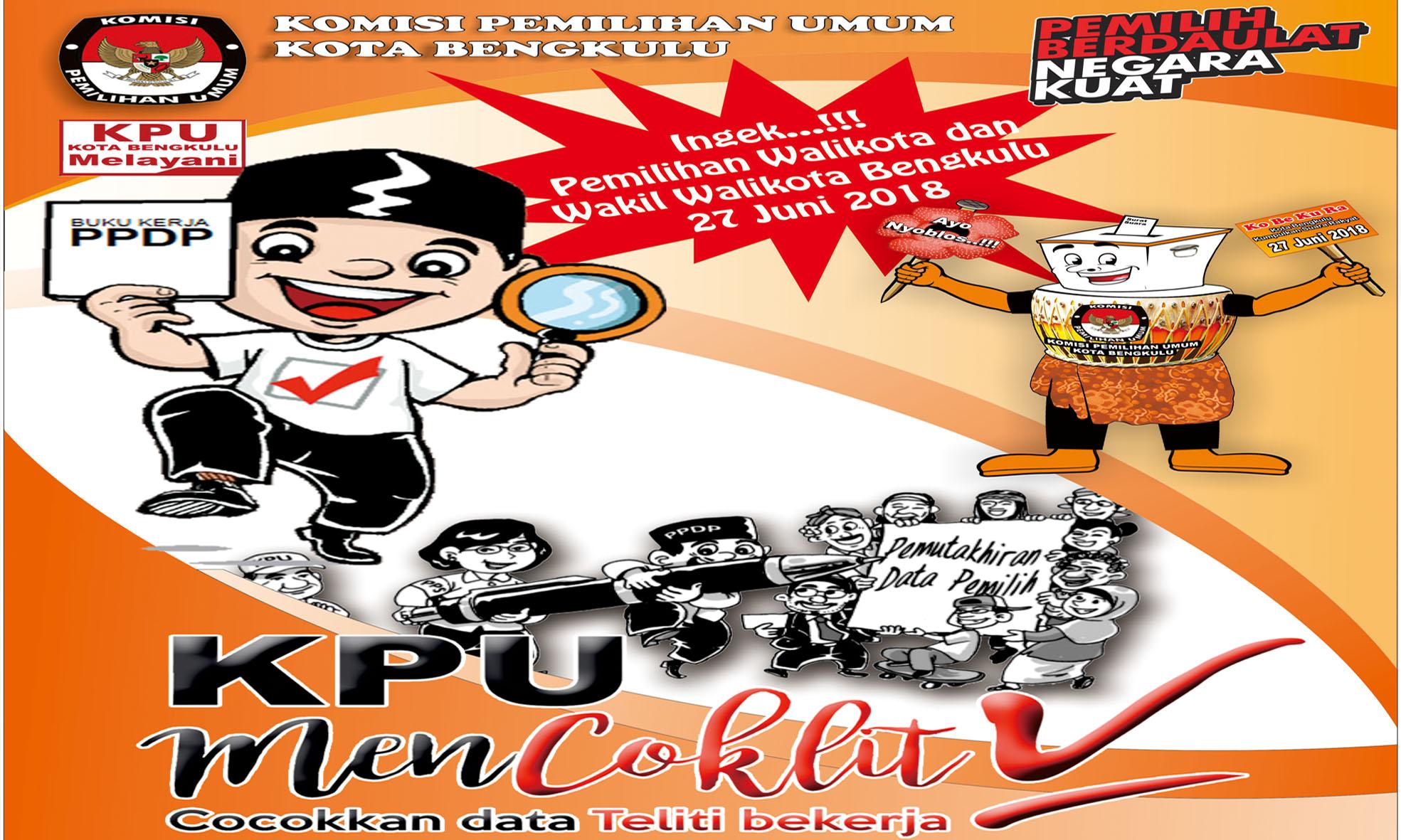 KPU Kota Bengkulu Gelar Gerakan Nasional Coklit Pemilihan Serentak Tahun 2018