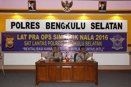 LAT PRA OPS SIMPATIK NALA 2016 Polres BS