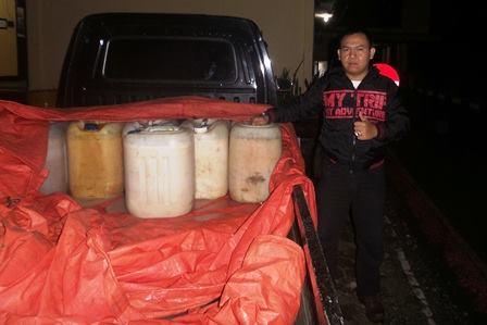 Kembali, 200 Liter Tuak asal seluma diamankan