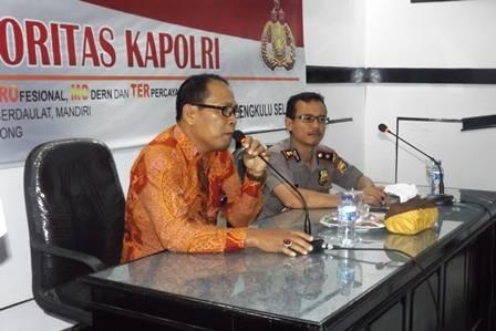 Gandeng KPP Pratama Bengkulu, Polres Sosialisasi Tax Amnesty