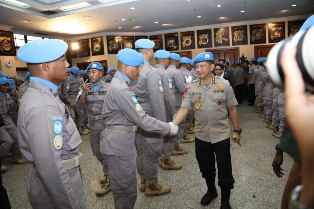 Dua Unit Pasukan Polri (FPU) Dikirim Ke Jantung Afrika Dan Darfur