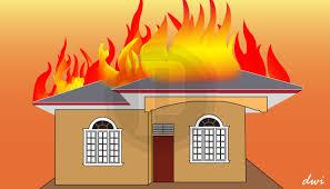 Diduga Lupa Matikan Kompor, Rumah Warga BS Dilalap Sijago Merah