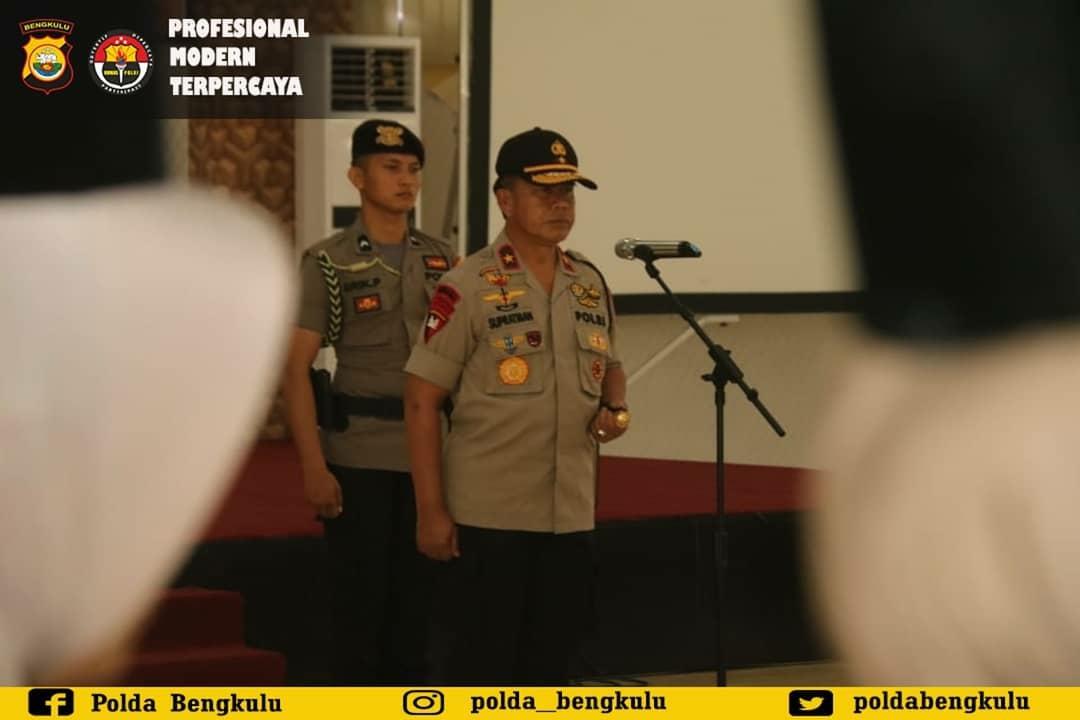 Polda Bengkulu Gelar Upacara  Korps Rapor PNS Polri