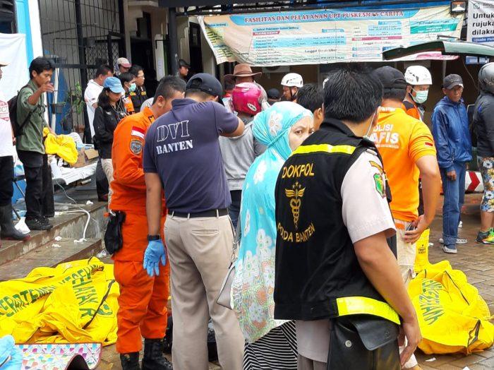 Tim Inafis Polda Banten dan RSDP Serang, Identifikasi Jenazah Tsunami Selat Sunda