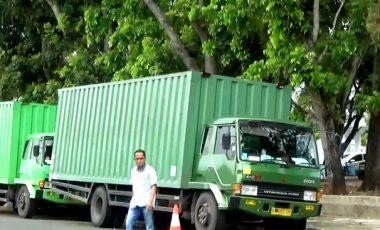 2 Truck Kontainer Diamankan Polisi