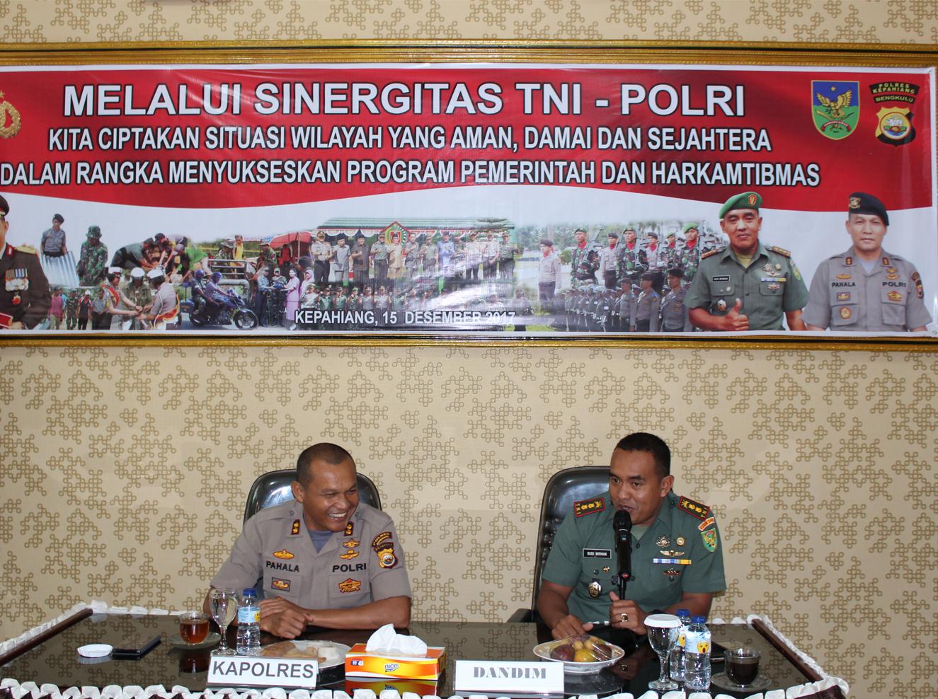 Memperkuat Sinergitas TNI – Polri, Babinsa dan Bhabinkamtibmas Tatap Muka