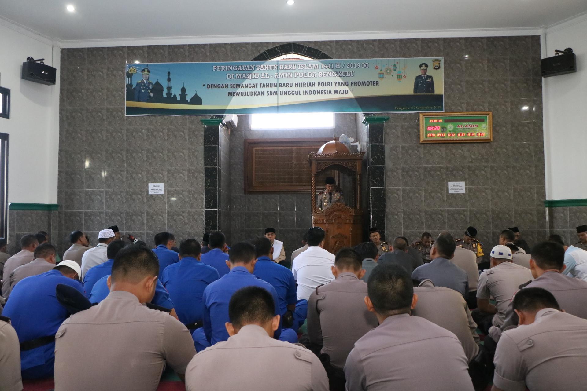Polda Bengkulu Rayakan Tahun Baru Islam 1441 H Dengan Ceramah Agama dan Doa Bersama