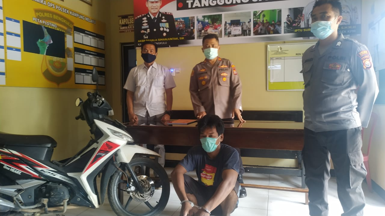 Pinjam Motor Teman Sampai 9 Bulan, Warga Bumi Ayu Ditangkap Polisi