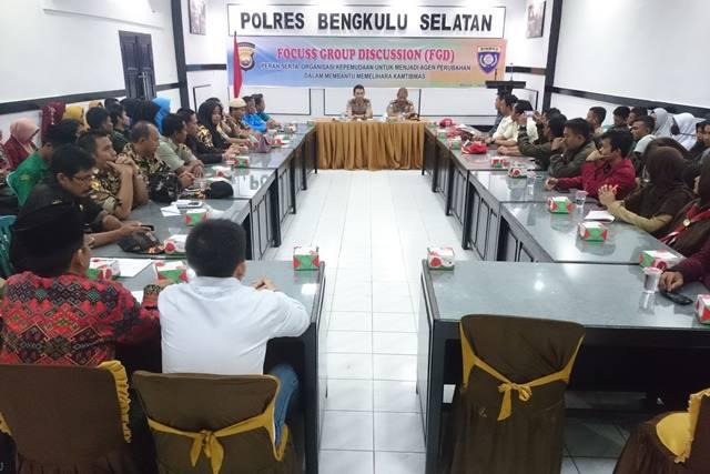 Laksanakan FGD Bersama OKP Se-Bengkulu Selatan, Polres Bentuk Aliansi OKP