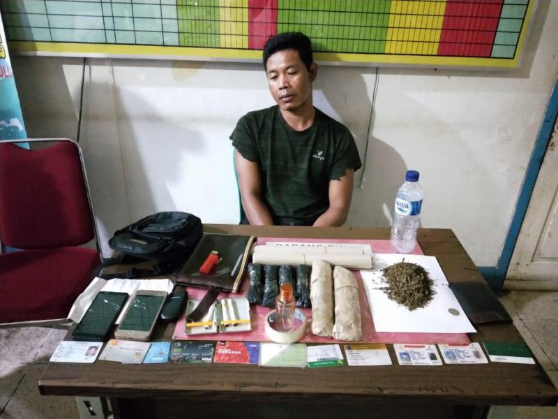 Seorang Pengedar Ditangkap, 1,5 KG Ganja Disita Polisi