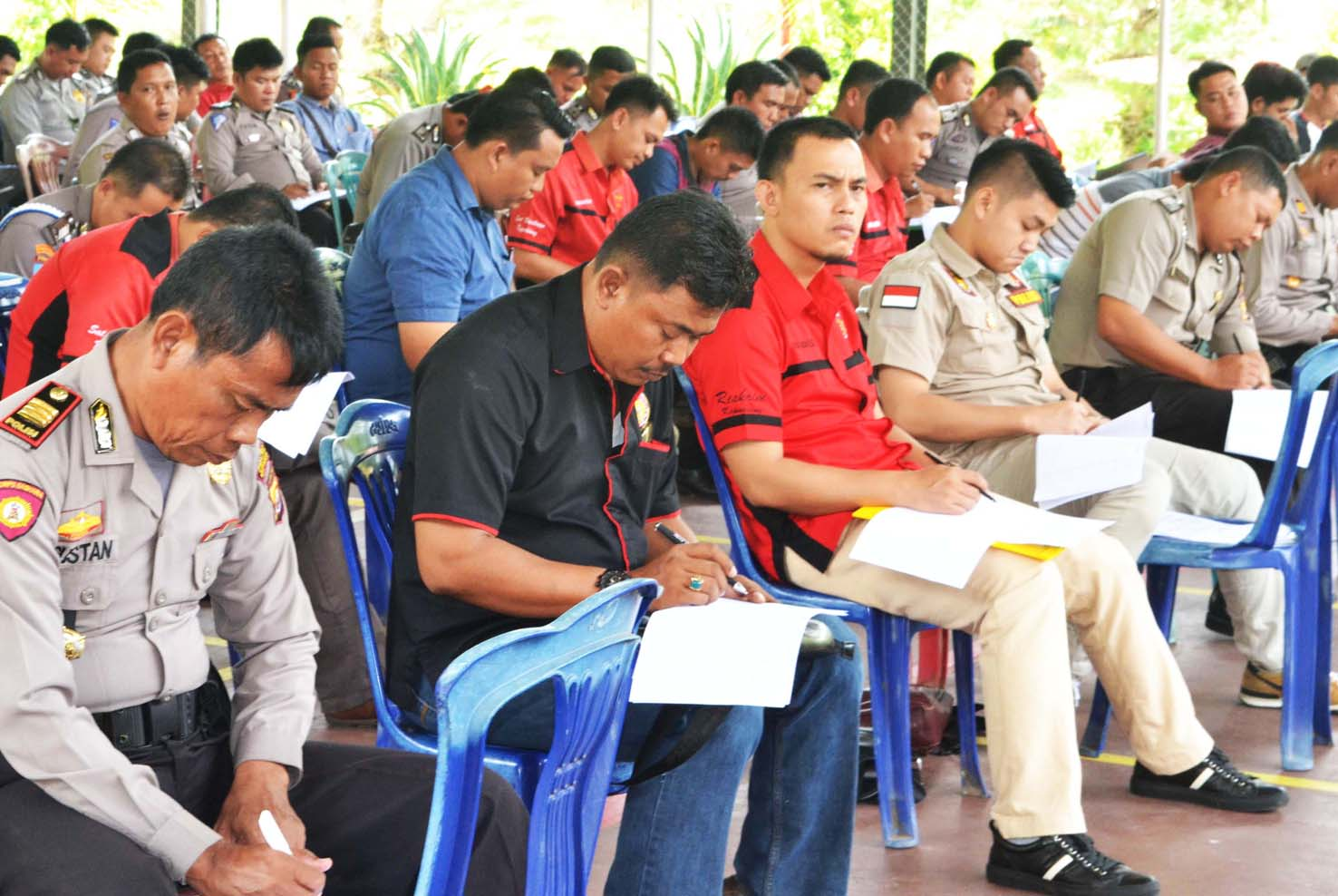 Menjamin  Kelayakan Polisi Pegang Senpi,  200 Anggota Polres Kepahiang Jalani Test Psikologi