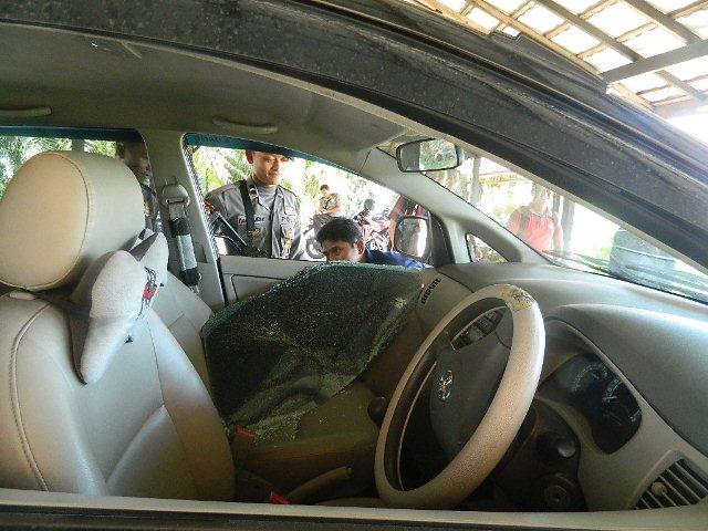 Polisi Selidiki pelaku Pecah Kaca Mobil