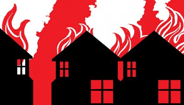 Ruko Ludes Terbakar Akibat Ledakan,Kerugian Mencapai 1 M
