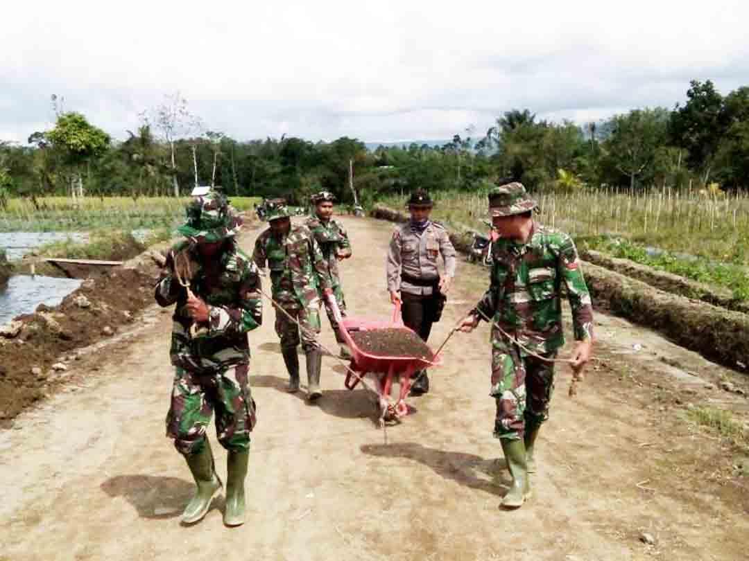 Kokohnya Kebersamaan TNI, Polri dan Masyarakat Dalam TMMD ke-98 Di Kepahiang