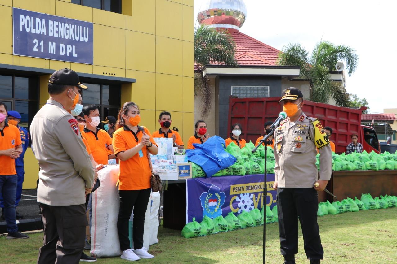 Polda Bengkulu Terima Bantuan APD Dari Masyarakat Tionghoa