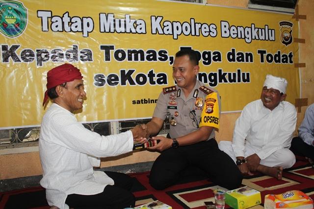 Kunjungi KKT, Kapolres Bengkulu Ajak Sukseskan Pemilu 2019 Tanpa Hoax
