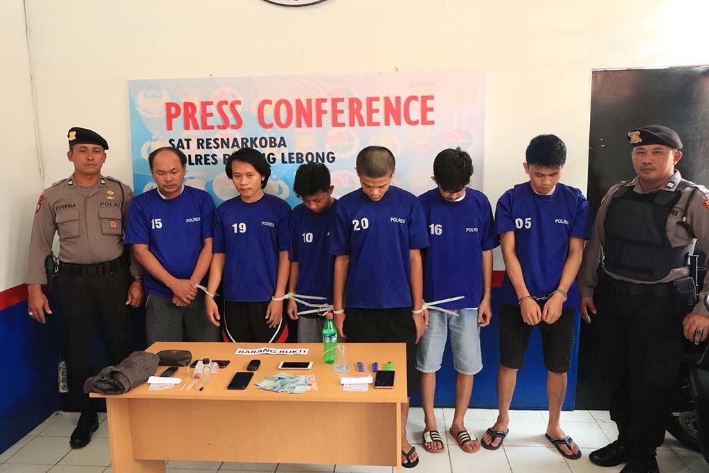 Lima Pelaku Penyalahgunaan Narkoba Ditangkap Polres RL
