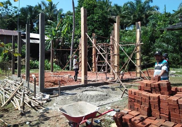 Yayasan Polres Bangun Rumah Anggota Terbakar