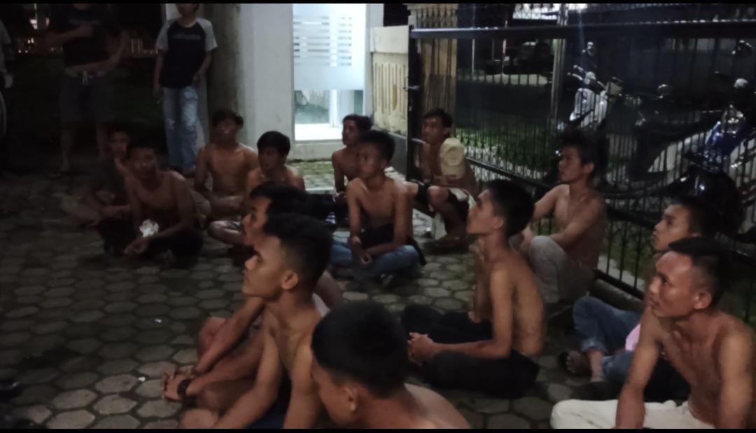 Pesta Tuak, Belasan Remaja Diamankan Polres BS