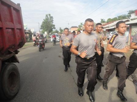 Asah keterampilan Brimob Laksanakan lintas Medan
