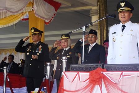 Upacara HUT RI Ke-71 di Bengkulu Selatan, Kapolres Pimpin Ziarah Rombongan