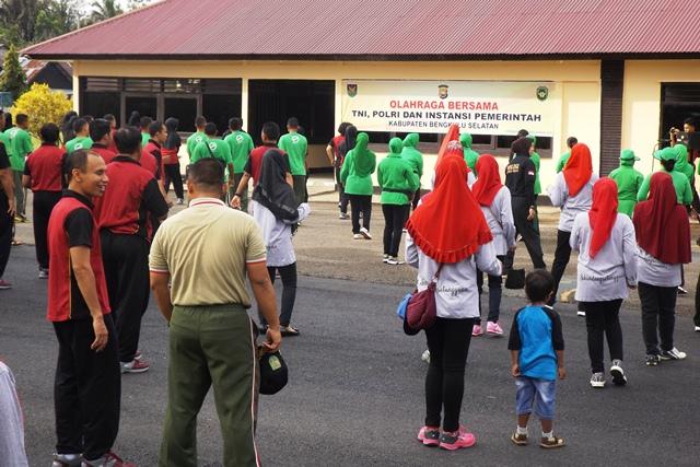 Bangun Sinergitas, Polres Ajak TNI dan Pemda Olahraga Bersama