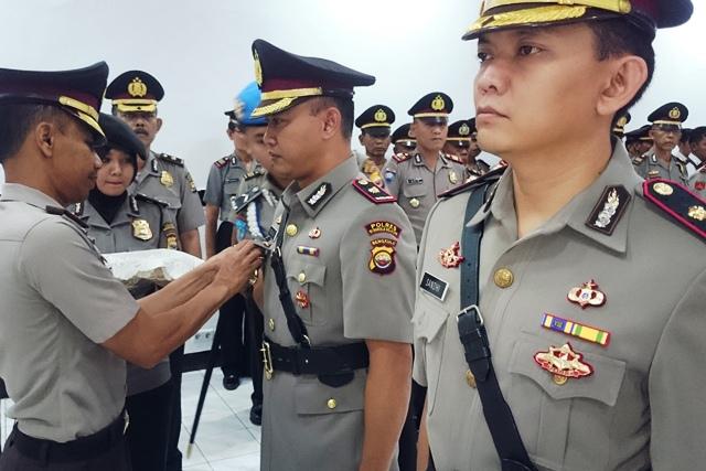 Sertijab Dipimpin Kapolres, Ini Pejabat Baru Waka Polres Bengkulu Selatan