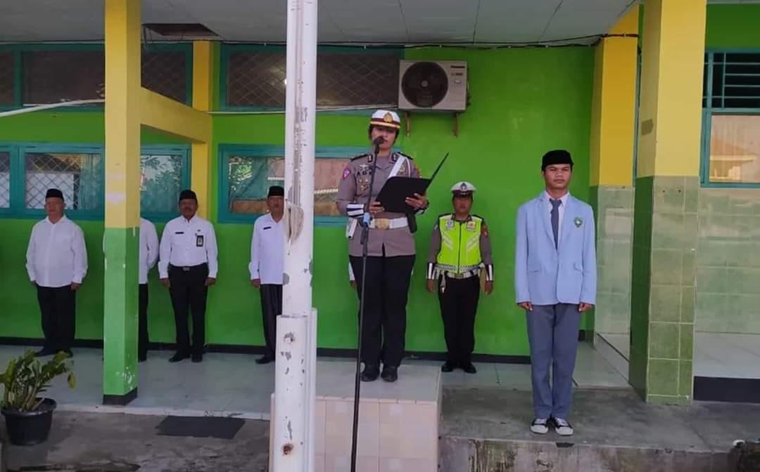 Police Go To School, Sat Lantas Polres Bengkulu Himbau Kamseltibcar Lantas