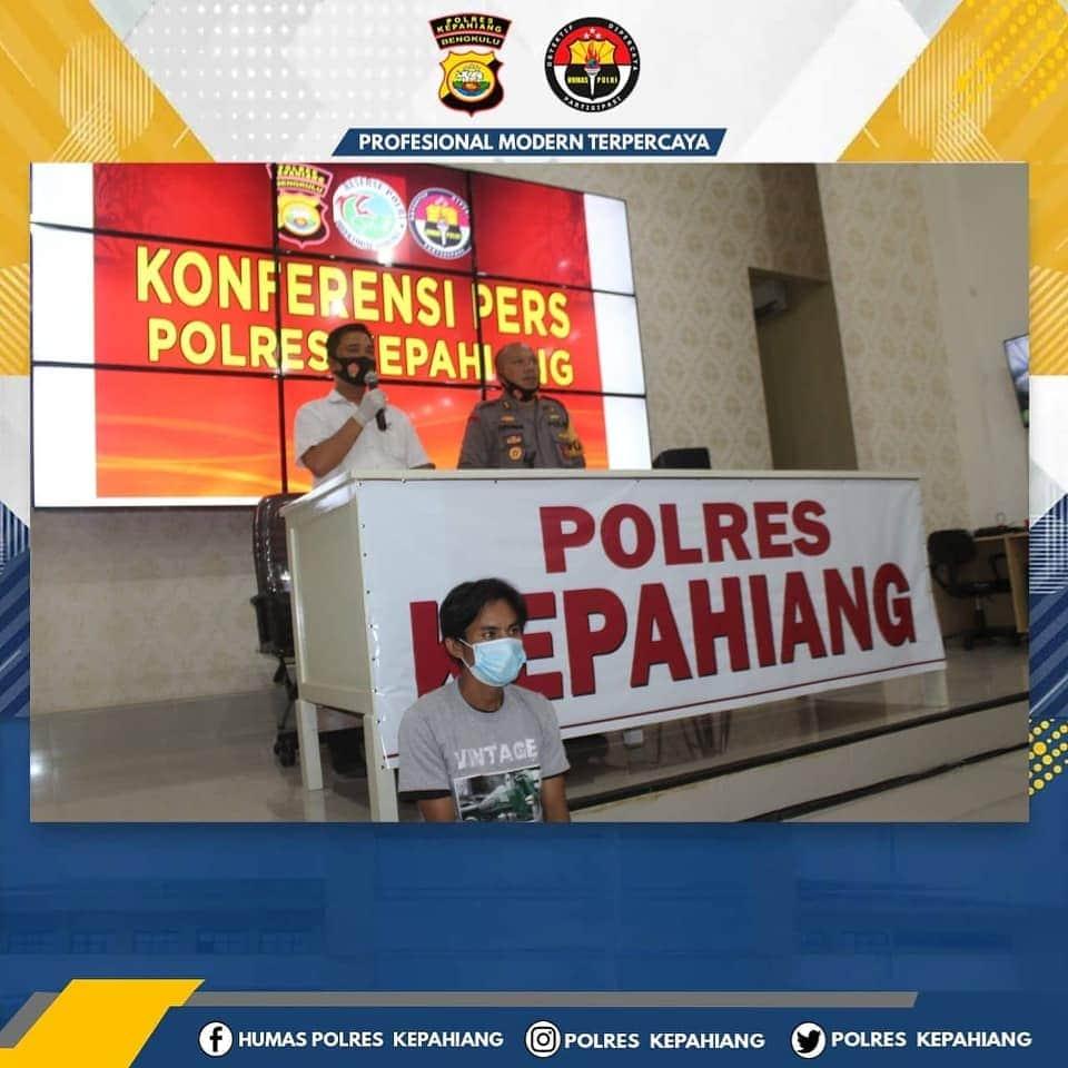 Tanam Ganja, EH Diamankan Polres Kepahiang Polda Bengkulu