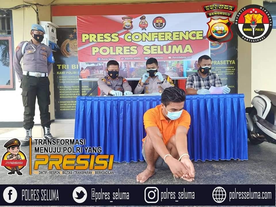 Press Conference, Kapolres Seluma Release Keberhasilan Ungkap Curas