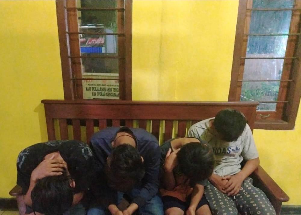 Polisi Amankan 4 Pemuda Pelaku Curi Kelapa