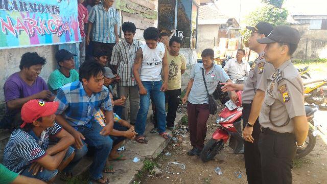 Kasat Binmas Kampanye Anti Narkoba Dengan Para Buruh