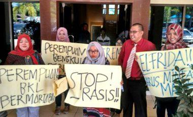 Lakukan Penghinaan Di Medsos, Koalisi Perempuan Bengkulu Datangi Polda Bengkulu