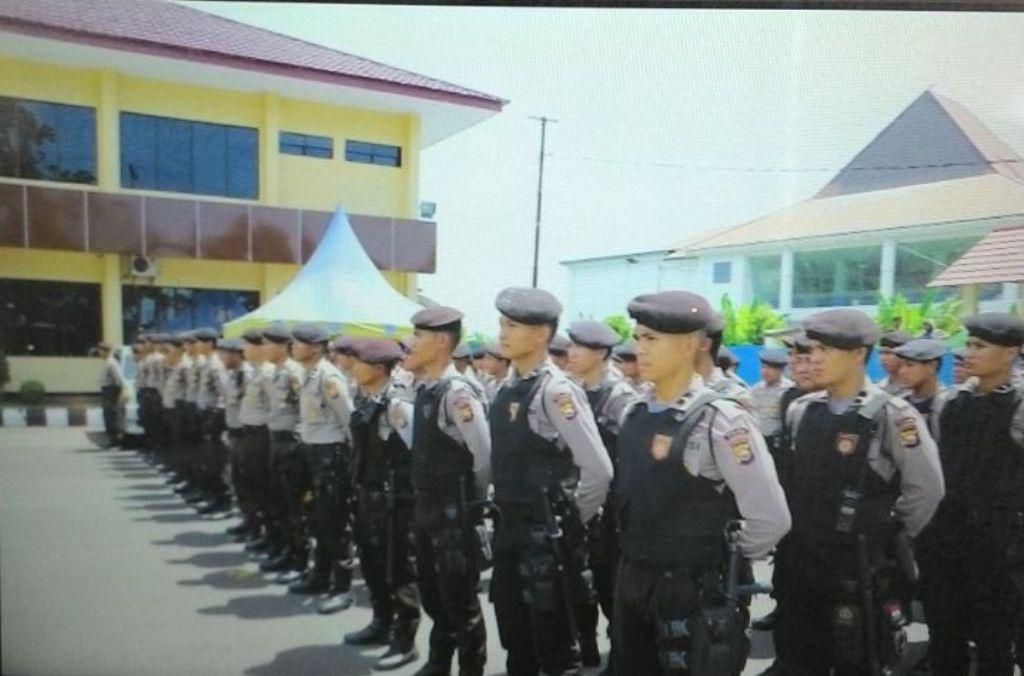 Ratusan Personil Polisi Apel Gelar Pasukan Pengamanan Aksi Damai