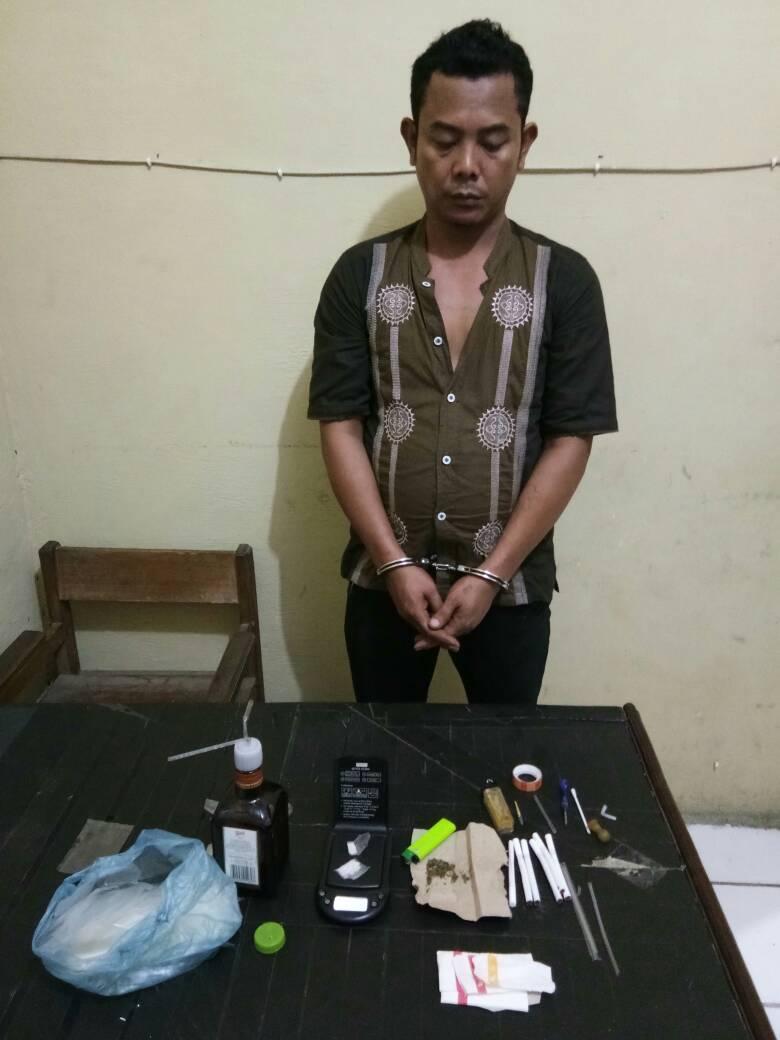 Simpan Sabu Dan Ganja, Pria Lubuk Pinang Ditangkap