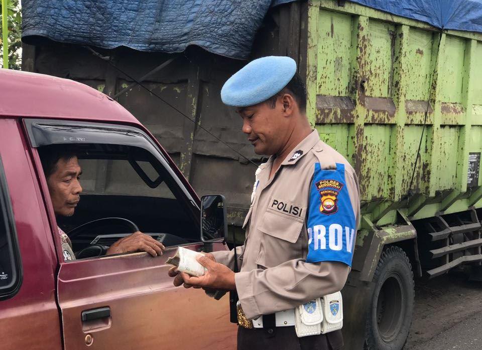 Tingkatkan ketaatan Berlalu Lintas, KSKP Pulau Baai Gelar Operasi Rutin