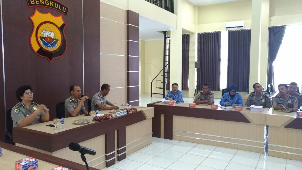 Itwasum Polri Monitoring Pelaksanaan Qwick Wins Polda Bengkulu