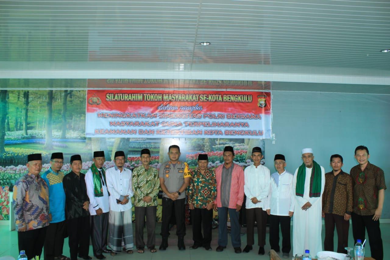 Silaturahmi dan Makan Bersama, Polres Bengkulu Gandeng Toma dan Toga Jaga Kondusifitas Bengkulu