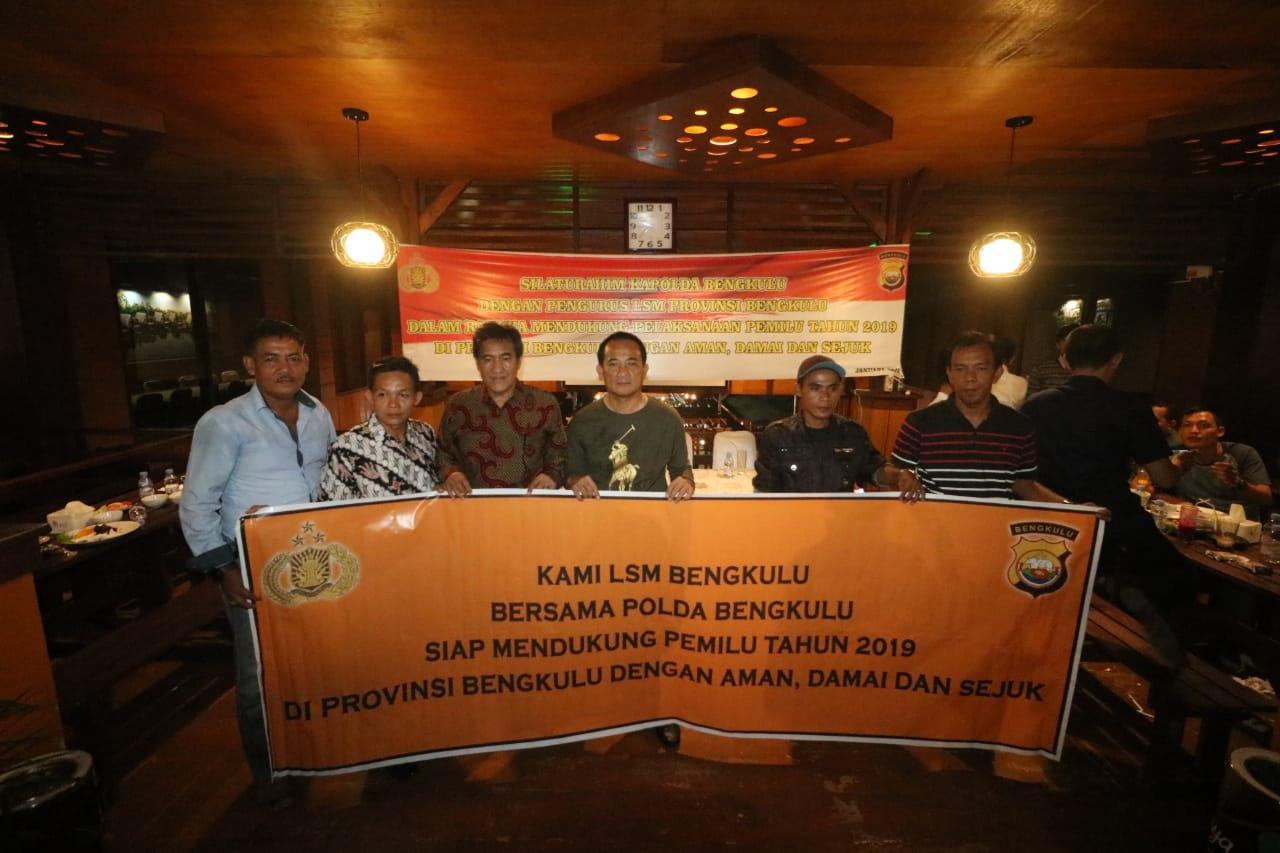 Jelang Pemilu, Kapolda Undang Silaturahmi LSM Se-provinsi Bengkulu