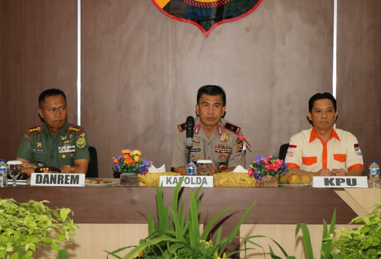 Bahas Pemilu, Polda Bengkulu Gelar Rakernis TNI-POLRI